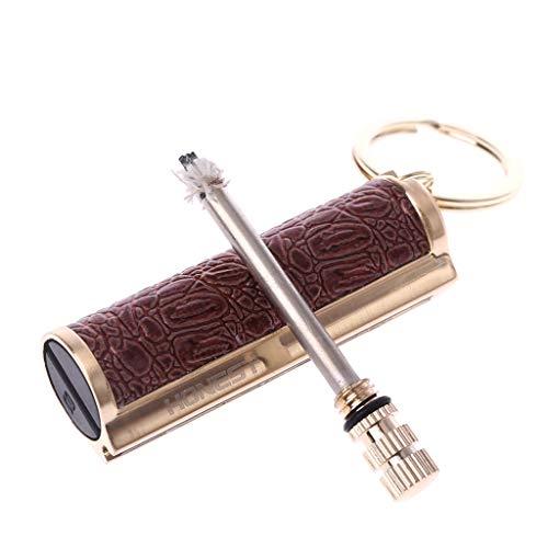 SimpleLife Keychain Permanent Metall Match Box Leichter Gadget Geschenk Schlüsselanhänger, Pocket Fire Starter, 1.8x1.6x5.5cm (Schlüsselanhänger Fire Starter)