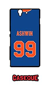 Caseque The Ash Ravichandran Ashwin Back Shell Case Cover For Sony Xperia Z