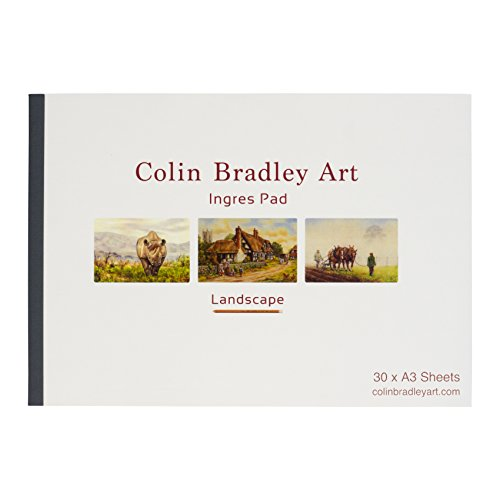 (Fabriano A3 Sandfarbenes Ingres Papier - Landscape Pad 30 Sheets)