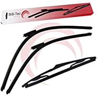 SiS-Tec 288907222R + 116516 - Limpiaparabrisas Delantero y Trasero (300 mm)