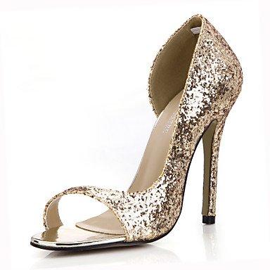 LFNLYX Donna Sandali Comfort estivo parte sintetica & abito da sera Casual Stiletto Heel Silver Gold Silver
