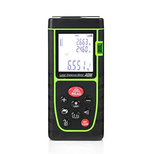 LSSLSS Infrarot-Entfernungsmesser mit Wasserwaage und Batterie IP54 wasserdicht. Fläche Volumen Pythagoras Kontinuierliche Messung Digitale Messwerkzeuge Elektronisches Maßband, 60-m
