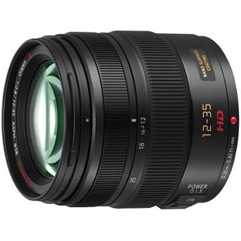 Panasonic H-HS12035E - Objetivo para micro cuatro tercios (distancia focal 12-35 mm, apertura f/2.8-22, estabilizador, diámetro: 58 mm), negro