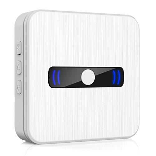 Arkmiido Wireless Türklingel Chime Plug-In Türklingel Erweiterung Empfänger 1000 ft Reichweite mit LED-Licht, Einstellbare 55 Tunes & 5 Lautstärkepegel, Keine Batterien Erforderlich