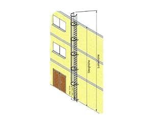 Steigleiter Alu blank Steighöhe 6,44 m Leiterlänge incl. Ausstiegsholm 7,70 m