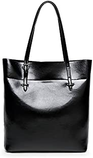 Fashion Black Leather Shoulder Bag For Women Trendy Elegant Tote Bag European Style Ladies HandBag