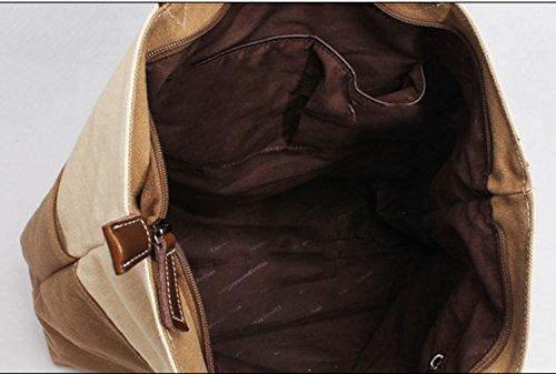 Keshi Toile Nouveau style - Sac à main femmes - Porté MAIN et EPAULE Terreuse Jaune