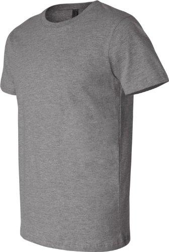 Bella + Canvas Unisex Kurze Ärmel hergestellt in den USA Crewneck T-Shirt–Athletic Heather grau - Deep Heather