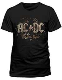 65b057328 Mens AC/DC T Shirt New Official Licensed Rock Or Bust Album Cover Print Top