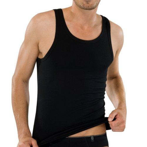 SCHIESSER Herren Achsel Shirt 95/5 2er Pack Grau (202-grau-mel.)