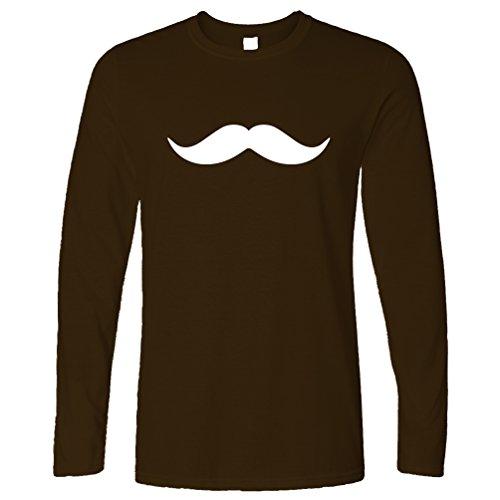 Schnurrbart Swag Kühle Hipster wie ein Sir Meme monacle Spüren (Vollbart Schnurrbart Und Braun)