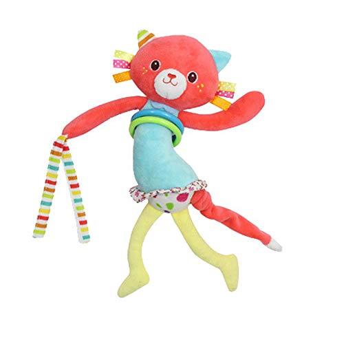 Sungpunet Baby-Katze Rassel Plüschtier Krippe hängen Spielzeug, Sportkinderwagen Autositz Bett Spielzeug, neugeboren Aktivität Entwicklung Spielzeug, einzigartige Babyreise hängen Rassel Plüschtier