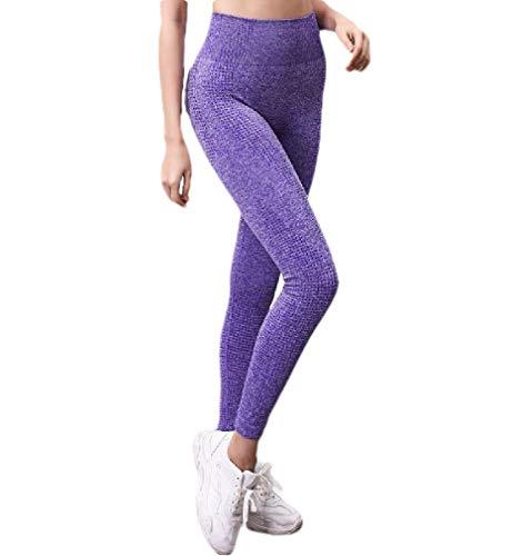 VITryst Women's Running Yoga Sports High Waist Butt Lift Footless Jeggings Purple XS -