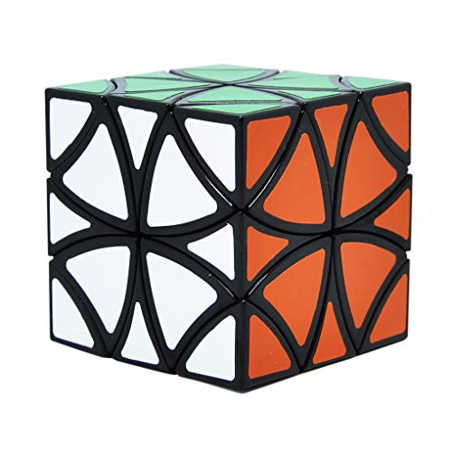 Maomaoyu Flower Butterfly Magic Cube Creative 8-Axis Rotation Corner Speed Mosaic Cube 3D Puzzle Twist Brain Teasers Toy (Black)