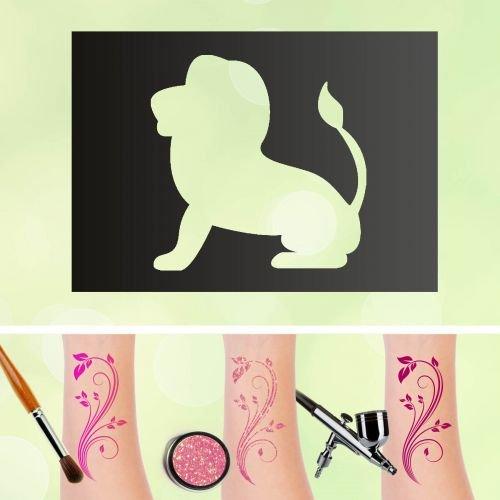 Tattoo stencil leone segno zodiacale autoadesiva kinders chminken aerografo