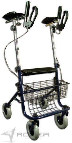 Preisvergleich Produktbild Rollator Arthritis mit Armauflagen Arthritisrollator Gehwagen NEU Blau faltbar