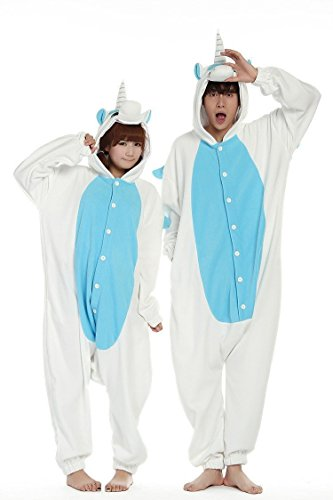 Chicone Unicorno Kigurumi Pigiama Adulto Bambini Anime Cosplay Halloween Costumi Unisex Blue Unicorn