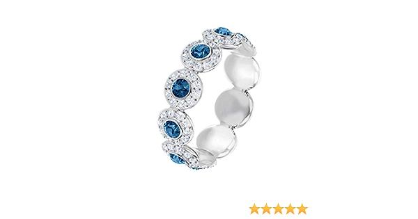 Swarovski Angelic Ring Band Blue Rhodium-Plated 55: Amazon.de: Schmuck