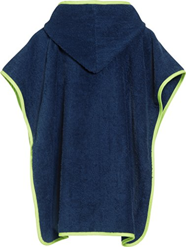 Playshoes-Jungen-Bademantel-Frottee-Poncho-Badeponcho-U-Boot-mit-Kapuze