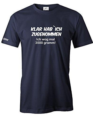 ZUGENOMMEN ICH WOG MAL 3500 GRAMM - HERREN - T-SHIRT in Navy by Gr. XXL ()