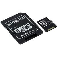 Kingston SDCS/64GB Canvas Select MicroSD, Velocità UHS-I di Classe 10, fino a 80 MB/s in Lettura, con Adattatore SD