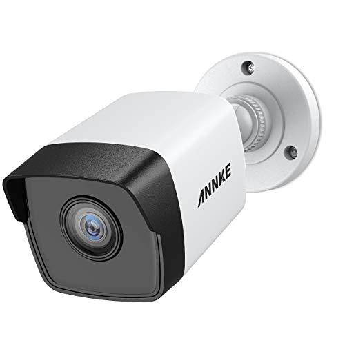 ANNKE 5MP POE Überwachungskamera, H.265+ HD Wasserfest IP Kamera für Haus Sicherheit Innen Außen Videoüberwachung mit Nachtsicht bis zu 30 Meter, Handy und PC Fernzugriff mit 30m EXIR Nachtsicht (Hause-surveillance-system Zu Sicherheit)