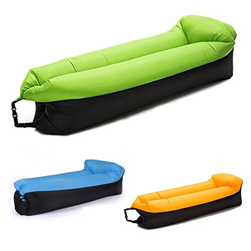 Lettino Gonfiabile Air Sofa Hammock-Portatile, Impermeabile e Anti-Aria Che perde Design per Viaggiare, Campeggio, Escursionismo - Perfect Air Chair per Picnic o Festival (Verde)