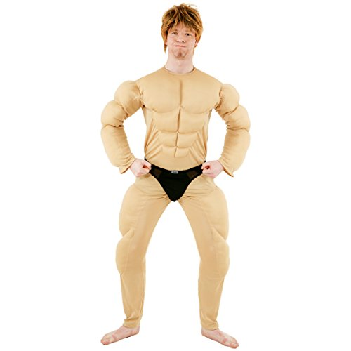 Kostüm Body Muskel - NET TOYS Muskel Kostüm | Ganzkörper Body | Muskelkostüm Bodybuilder & Muskelprotz | ideales Unterkostüm für Heldenkostüme (54/58)