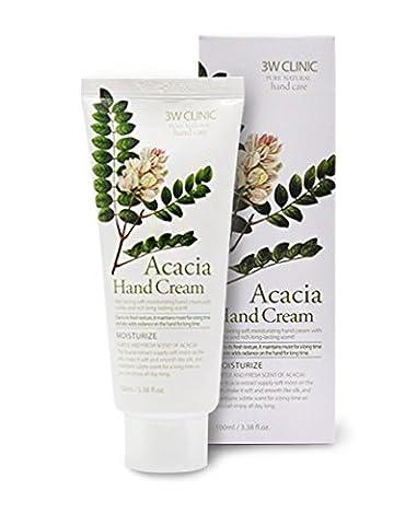 3W Clinic - Acacia Hand Cream - Handcreme mit Akazien Extrakt für Männer und Frauen - Handpflege gegen trockene Haut - Maniküre - Hautpflege für die Hände - Schafft eine Schutzschicht - (Lipikar Xerand)
