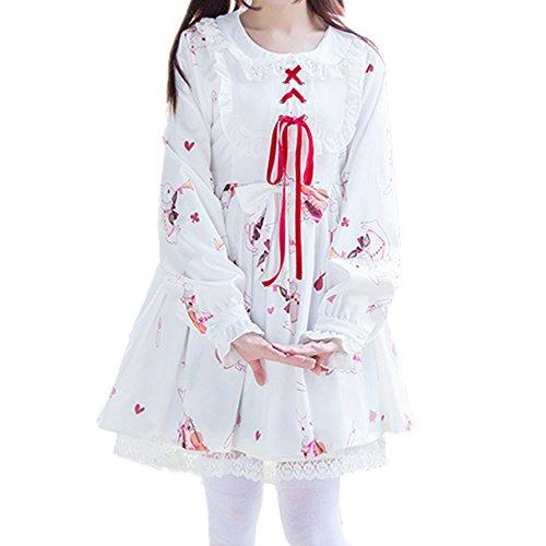 Packitcute Lolita Kleid für Frauen Kaninchen Print Cosplay -
