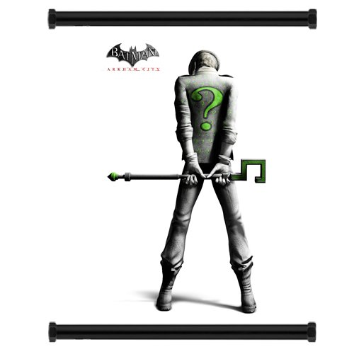 Batman-Arkham-City-Game-Riddler-Fabric-Wall-Scroll-Poster-16-x-20-Inches