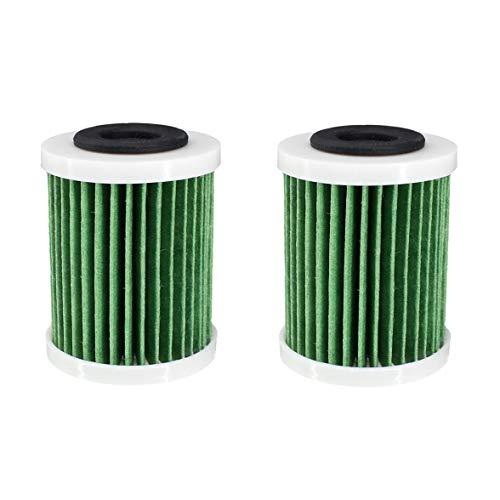 AISEN Lot de 2 filtres à carburant pour Yamaha 150-350PS VZ150 VZ200 F150 F200 LF150 VF200 6P3-WS24A-00-00 6P3-WS24A-01-00