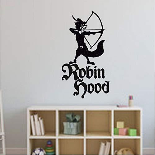 Cmhai Robin Hood Cartoon Charakter Bogenschießen Vinyl Wandaufkleber Für Kinderzimmer Kindergarten Jungen Schlafzimmer Home Art Decor Vinyl Poster 42 * 77 Cm