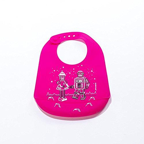 Modern Twist Baby-Eimer Bibz Roboter-Liebe, Silikon, Cotton Candy, 1.12 x 1.12 x 1.12 cm - Cotton Candy Twist