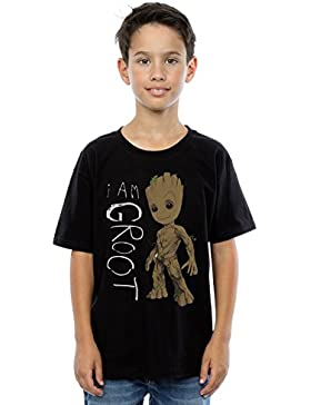Marvel niños Guardians of the Galaxy I Am Groot Scribbles Camiseta