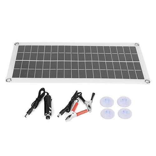 Solarpanel, Tragbares Solarmodul Solarzellen Solar Panel Ladegerät mit 2 USB-Anschluss, Solarladegeräte für Auto, Camping, Marine, Motor und andere wiederaufladbare Motorbatterien