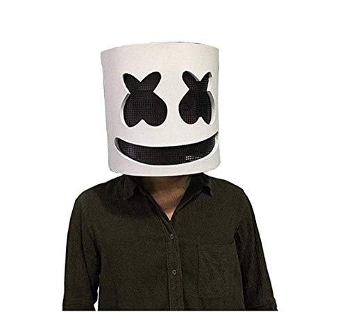 Latex Marshmallow DJ Maske Halloween Party Nachtclub Weiße Maske Erwachsene Cosplay Kostüm Helm für Party Kostüm ()