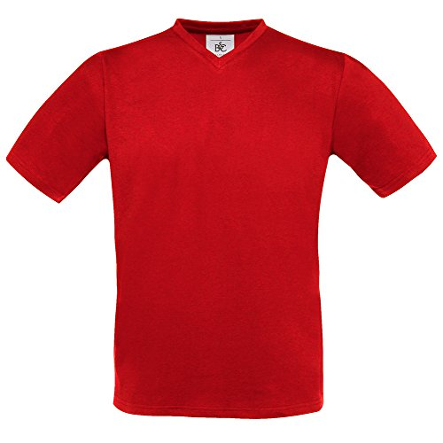 B&C Collection Exact v-neck Red