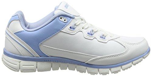 Oxypas Oxysport 'Sunny' Slip-resistant, Antistatic Leather Nursing Trainers, White/Purple (Liliac), 8 UK (42 EU) Bianco (White (Lbl))