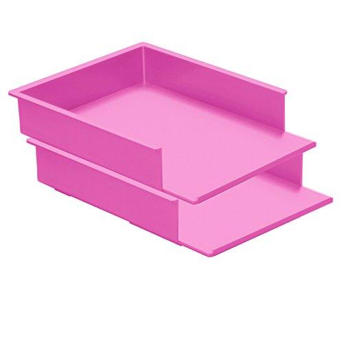 REXITE - 2 vaschette portacorrispondenza frontale STANDARD (rosa ciclamino ...)