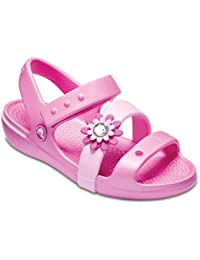 Crocs Girls Keeley Petal Charm Sandal PS Party Pink