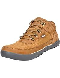 Allen Cooper ACCS-6003 Men Rust Leather Trekking Shoes