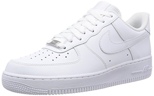 Nike - Air Force 1 '07, Zapatillas Hombre, Blanco (White/white), 43 EU