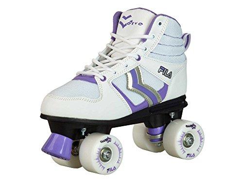Fila Damen Roller-Skates Verve Lady Rollschuhe, White/Violet, 42