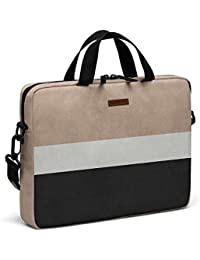 """DailyObjects Natural Cream And Black City Compact Messenger Bag For Up To 14"""" Laptop/Macbook"""