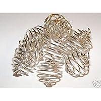 18 mm, colore: argento a spirale con cristalli e gemme per gabbie X 12