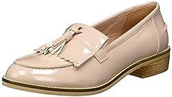Steve Madden Womens Meela Flat Loafer Shoes Beige 5 UK