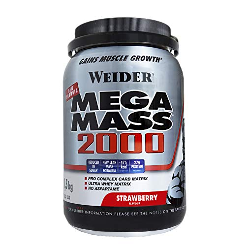 Weider Mega Mass 2000 Fresa - 1500 gr
