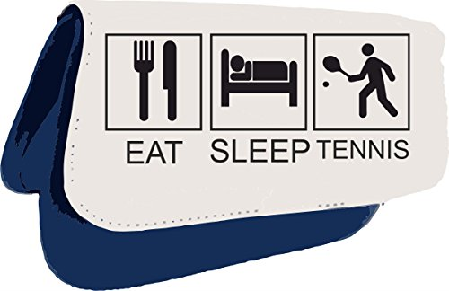 Eat Sleep Tennis Tiles Funny Hobby Activity Clutch Bag Or Pencil Case - Blue