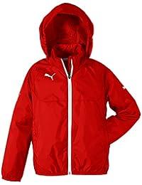 PUMA Jacke Rain Jacket - Chaqueta, color rojo / blanco, talla 12 años (152 cm)